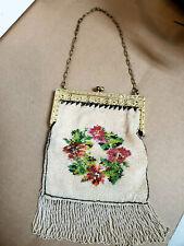 Metal Bead Vintage Flapper purse