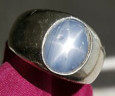 Vintage Men's Star Sapphire 14k white gold ring