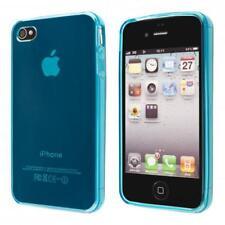 Apple iPhone 4 4S custodia protettiva morbida blu case cover