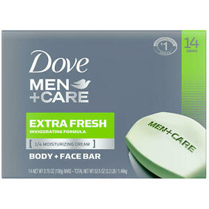Dove Men+Care Body and Face Bar Extra Fresh 3.75 oz., 14 Bars