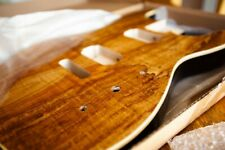 More details for xgp curly spalted maple strat body, hh config. original packaging