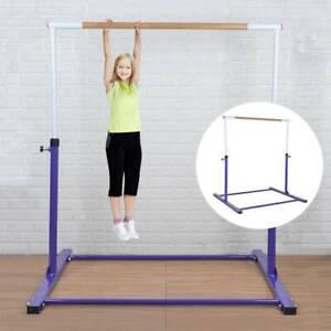 Adjustable Horizontal High Bars Gymnastics Junior Kids Bar Home Gym Training