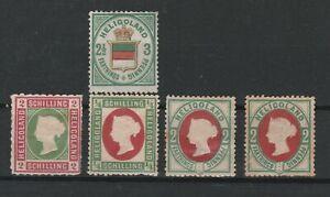 AA.218 - Heligoland stamps, 1867-1876, contain Scott # 20