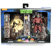 NECA TMNT Ninja Turtles Splinter & Shredder Walmart Exclusive 2-Pack, NEW/SEALED