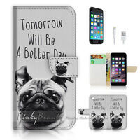 ( For iPhone 7 ) Wallet Case Cover P1616 Better Day Dog