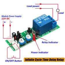 DC 12V Infinite Cycle Delay Timing Timer Relay ON OFF Switch Loop Module NEW