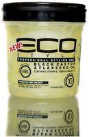 ECO Styler Black Castor - Flaxseed Oil Gel 8 oz