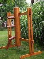 Wing Tsun, Wing Chun, Ving Tsun Holzpuppen mit mobilem Holzständer