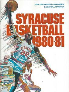 1980-81 Syracuse Basketball Yearbook HC HOF Jim Boeheim Dan Schayes NBA
