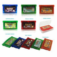 5x Pokemon Game Card Fire/Leafgreen/Emerald/Ruby/Sapphire Version For GBA Game