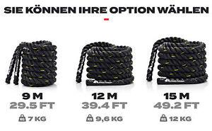 Sportseil Trainingsseil Schlachtseil Battle Rope Schlagseil Gym Rope 9m 12m 15m