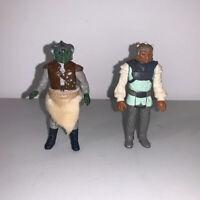 vintage STAR WARS FIGURE LOT Nikto and Klaatu Skiff Guard + Cloth