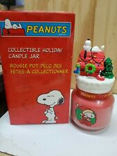 Snoopy Holiday Candle Jar / Avon 2004 / Removable Lid