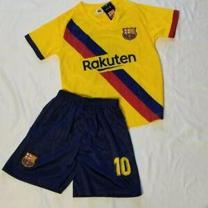 Messi #10 Jersey & Short Set Sz 22 Euro 6 USA by FCB Football/Soccer Set NWT