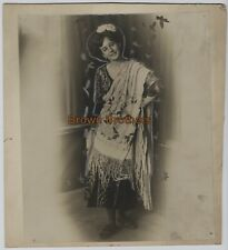 1910s Barnum & Bailey Circus High Wire Act Mlle Victoria Oversized Mounted Photo