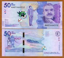 Colombia, 50000 (50,000) Pesos 2015 (2016), P-New, AA-Prefix, UNC > Marquez