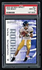 2000 SKYBOX IMPACT TOM BRADY #27 NEW ENGLAND PATRIOTS ROOKIE RC PSA 10 GEM MINT