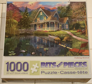 FISHING RETREAT PUZZLE  BITS AND PIECES 1000 PIECE PUZZLE NO. 43900