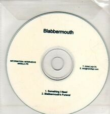 (CQ510) Blabbermouth, Something I Need - DJ CD