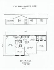 949 square foot two bedroom house plan