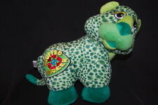 """Leopard Stuffed Green Animal Lovey Toy Recycle Spotted 12"""" Plush Sugar Loaf"""