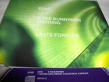 ECHO/BUNNYMEN-NOTHING LASTS FOREVER +2  LOCDP 396 UK CD