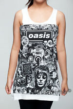 OASIS Liam Gallagher UK Rock Band Women T-SHIRT DRESS Tank Top Vest Size S M