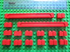 LEGO 16 X PORTA SCORREVOLE GARAGE/otturatore modificato con scanalature mattoni 1x14 & 1x2 Rosso