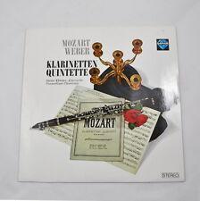 LP: Mozart / Weber - Klarinetten Quintette (Dieter Klöcker) Saphir INT 120.809
