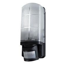 Hardwired mains motion activated outdoor light fixtures ebay minisun griffin ip44 black motion sensor pir bulkhead wall light 19138 aloadofball Image collections