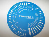 WATCH BATTERY REPLACE SIZE GAUGE MEASURE CHART TOOL RENATA SILVER OXIDE LITHIUM