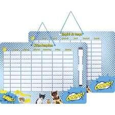 Stundenplan Fans of Earth von Brunnen Hund Katze abwischbar mit Stift