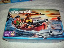 PLAYMOBIL 5137 PIRATES SHARK ATTCK WITH ROW BOAT  BRAND NEW