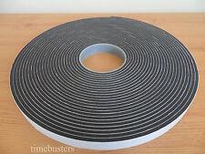 15 M Negro Espuma de doble cara cinta de células cerradas 20 mm de ancho x 4.5 mm Coche/Acristalamiento