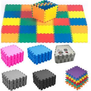 EVA Interlocking Soft Foam Play Mat Kids Gym Yoga Exercise Fitness Floor Tiles