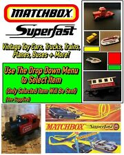 Matchbox Superfast Vintage Toy Cars, Boats, Trains, Planes +More (Select Item)