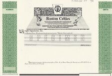 BOSTON CELTICS SPECIMEN STOCK CERTIFICATE 1987 RARE BASKETBALL SPORTS MINT