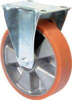 Bockrolle D.125mm Trgf.200kg Guß-PU-bandage Platte 115x85mm