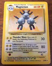 Magneton 9/102 Holo Base Set Pokemon Card ~ Moderate Play
