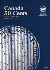 Whitman Canadian 50 Cent Coin Folder 1902-1936 Volume 2 #4010
