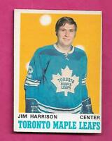 1970-71 OPC # 220 LEAFS JIM HARRISON ROOKIE EX CARD  (INV# A9382)