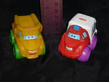 Playskool Tonka Mini Wheel Pals Vehicle Lot: Ambulance & Yellow Dump Truck