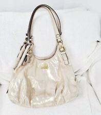 Coach Madison Vintage purse handbag leather gold Platinum Shoulder Hobo Bag