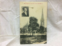 Vintage Postcard Van Wert Ohio First M. E. Church Rev. Swank