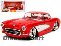 Jada 1:24 Big Time Muscle 1957 Chevrolet Corvette Red Diecast Model Car 31451