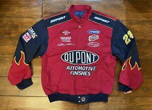 Jeff Gordon #24 Dupont Red Navy Flames Jacket Mens Size  X-Large NASCAR JH Rare