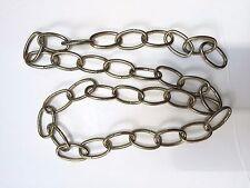 """Light Pendant Chain Antique Brass Metal Chandalier 32"""" long -1 1/2"""" x 7/8"""" Links"""