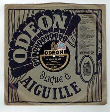 78T BACH & Henry LAVERNE Disque Phonographe LA CHASSE AU LION -ODEON 165849 RARE