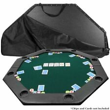 Poker Tabletop Padded Friends Parties Cup Holders Playing Fun Portable Folding
