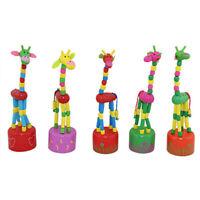 Kid Wooden Developmental Dancing Standing Rocking Giraffe Handcrafted Toy H1